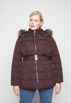 New Look Curves - ELLIE PUFFER - Parka - dark burgundy