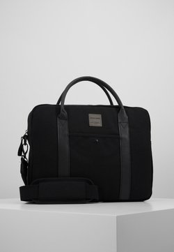 Jack & Jones - JACCANVAS BRIEFCASE - Aktentasche - black