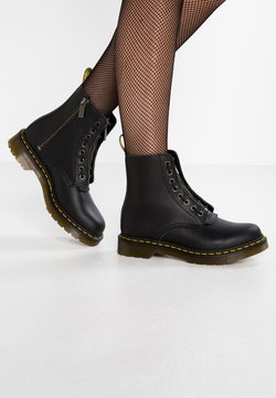 Dr. Martens - 1460 PASCAL FRNT ZIP 8 EYE BOOT - Bottines à lacets - black