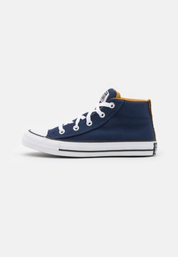 Converse - CHUCK TAYLOR ALL STAR STREET MID UNISEX - Korkeavartiset tennarit - midnight navy/ dark soba/white
