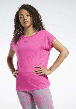 Reebok - BURNOUT T-SHIRT - T-Shirt print - pink