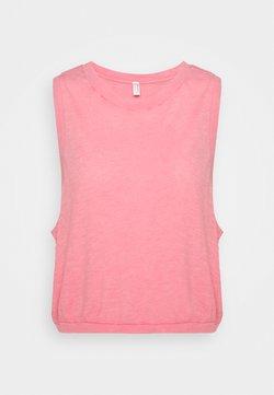 Free People - WASHED LOVE TANK ACID - Toppi - mottled pink