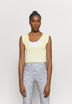 Free People - PERFECT DAY TANK - Camiseta estampada - light yellow