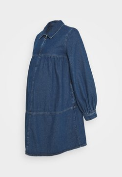 Topshop Maternity - BABY DOLL DRESS - Denim dress - mid blue