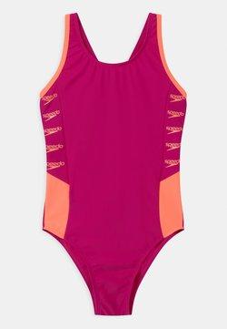 Speedo - BOOM LOGO SPLICE MUSCLEBACK - Costume da bagno - electric pink/neon fire