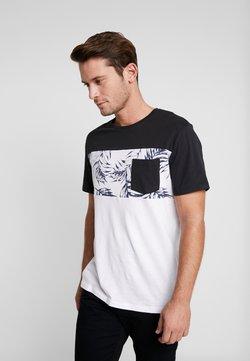 Pier One - Camiseta estampada - white/black