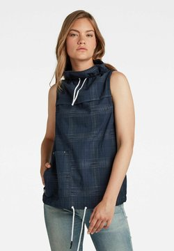 G-Star - SLEEVELESS MOCK NECK - Bluse - imperial blue ethan check