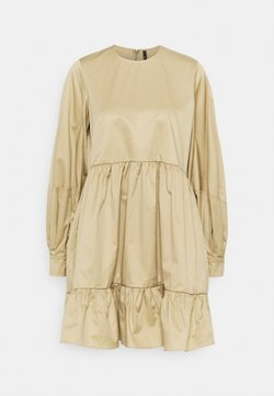 Mother of Pearl - SHORT DRESS WITH GATHERED TIERED SKIRT - Day dress - beige