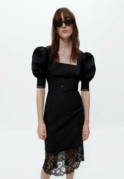 Uterqüe - BLACK GUIPURE LACE DRESS  - Vestito elegante - black