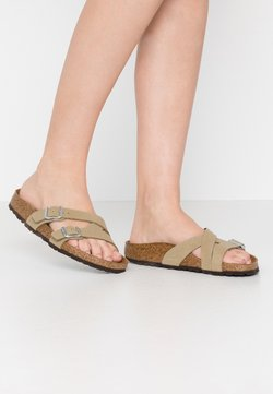 Birkenstock - YAO - Chaussons - brushed mud green
