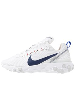 Nike Sportswear - REACT 55 - Baskets basses - white/midnight navy/blue/university red/pure platinum/metllic silver