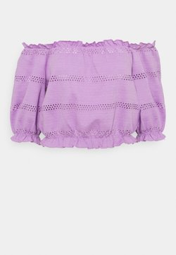 Pieces - PCTAYLEE CROPPED - T-shirt con stampa - sheer lilac