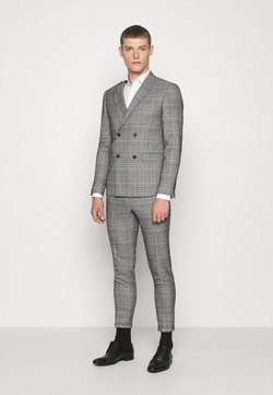 Lindbergh - DOUBLE BREASTED CHECK SUIT - Costume - brown