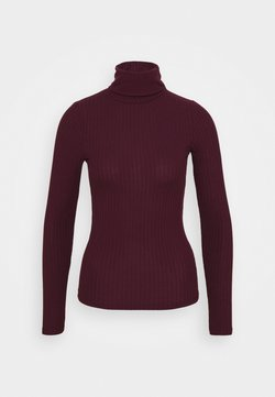 New Look - WIDE ROLL NECK - Langarmshirt - dark burgundy