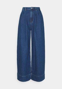 Monki - NANI PALAZZO JEANS - Relaxed fit -farkut - blue medium dusty