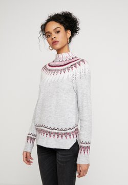 Dorothy Perkins - FINE GAUGE FAIRISLE JUMPER - Neule - grey