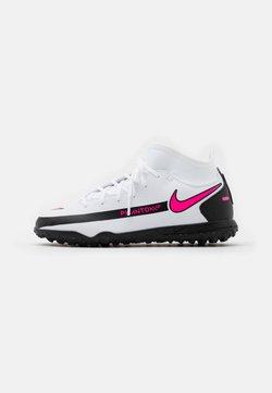 Nike Performance - JR PHANTOM CLUB DF TF UNISEX - Fotballsko for kunstgress - white/pink blast/black