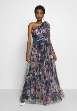 Adrianna Papell - SHIRRED PRINTED GOWN - Vestido de fiesta - red/blue/multi
