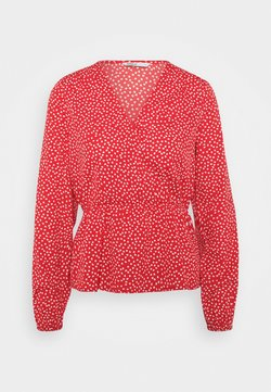 ONLY - ONLSWEETHEART - Bluse - high risk red/cloud dancer