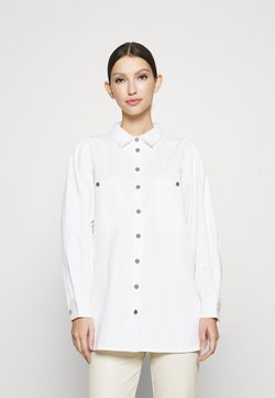Topshop - CASUAL - Button-down blouse - ecru