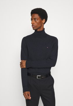 Tommy Hilfiger - PIMA ROLL NECK - Pullover - black heather