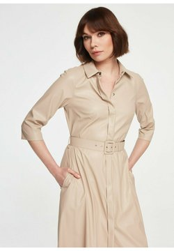KMX Fashion - Sukienka koszulowa - beż
