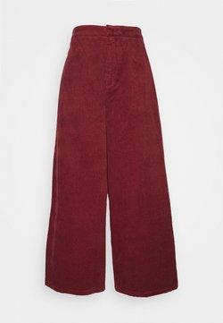 Ecoalf - BLEACH PANTS - Spodnie materiałowe - wine