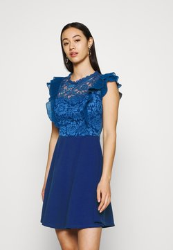 WAL G. - HUMERA LACE SKATER DRESS - Robe en jersey - electric blue