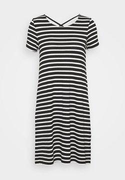 ONLY Tall - ONLBERA BACK LACEUP DRESS - Jerseykleid - black/cloud dancer