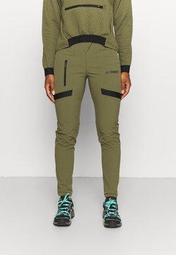 adidas Performance - TERREX ZUPAHIKE - Długie spodnie trekkingowe - green