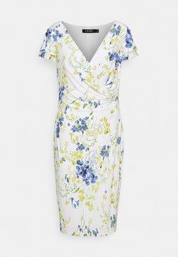 Lauren Ralph Lauren - PRINTED MATTE DRESS - Etuikleid - cream/yellow