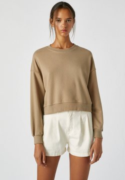 PULL&BEAR - Sweatshirt - mottled light brown