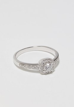 DIAMANT L'ÉTERNEL - 9KT WHITE GOLD 0.40CT CERTIFIED DIAMOND FASHION RING - Ring - silver-coloured