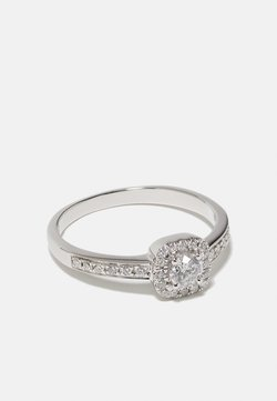 DIAMANT L'ÉTERNEL - NATURAL DIAMOND RING CERTIFIED 0.4CARAT HALO DIAMOND RINGS 9KT WHITE GOLD DIAMOND JEWELLERY GIFTS FOR WOMENS - Ring - white gold