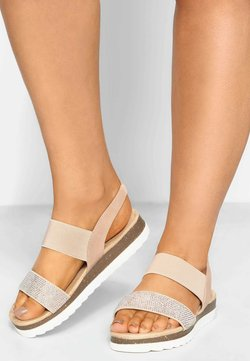 Yours Clothing - EMBELLISHED COMFORT IN EXTRA WIDE FIT - Riemensandalette - pink