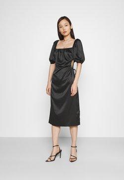 NA-KD - PUFF SLEEVE CUT OUT DRESS - Cocktailkleid/festliches Kleid - black