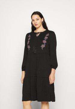 JUNAROSE - by VERO MODA - JRADINA BELOW KNEE DRESS - Korte jurk - black