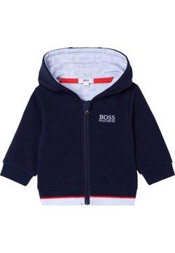 BOSS Kidswear - Tröja med dragkedja - bleu cargo