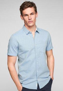 Q/S designed by - EXTRA SLIM - Businesshemd - light blue melange