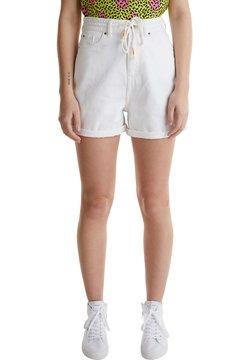edc by Esprit - DENIM-SHORTS MIT HIGH-WAIST-BUND - Jeansshort - white