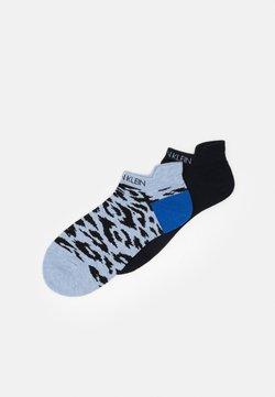 Calvin Klein Underwear - WOMEN LINER LEOPARD BACK TAB LIBBY 2 PACK - Socken - denim combo