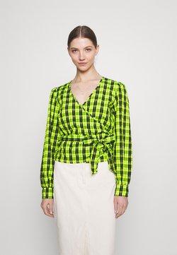 Moves - PATTI WRAP - Bluse - neon green