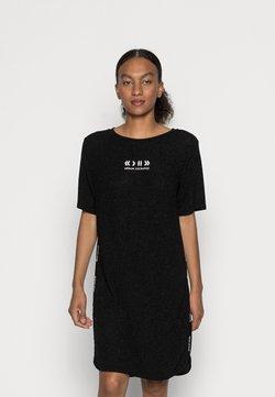 Armani Exchange - VESTITO METALLIC STRETCH - Korte jurk - black