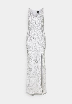 Adrianna Papell - BEADED GOWN WITH MERMAID SKIRT - Galajurk - ivory