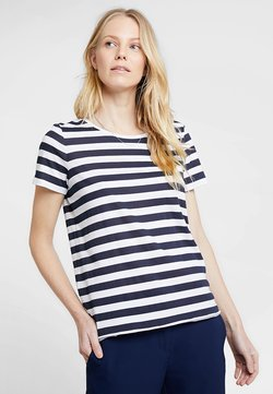 Marc O'Polo DENIM - STRIPED - T-Shirt print - blue/white