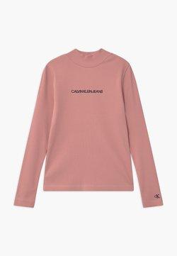Calvin Klein Jeans - MOCK NECK - Long sleeved top - pink