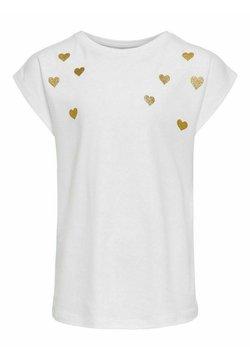 Kids ONLY - HERZ - T-shirt z nadrukiem - bright white