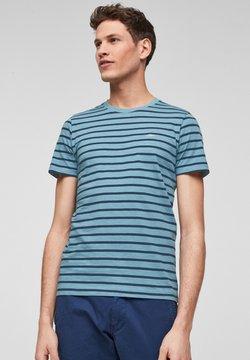s.Oliver - MIT RINGELMUSTER - T-Shirt print - petrol