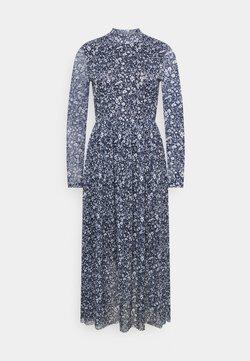 TOM TAILOR DENIM - PRINTED DRESS - Freizeitkleid - blue