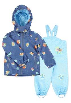 Paw Patrol - MATSCH UND BUDDELANZUG SET-Waterproof jacket - Regnbyxor - marine print   blau